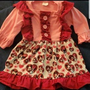 Minnie and Mickey Valentine dress